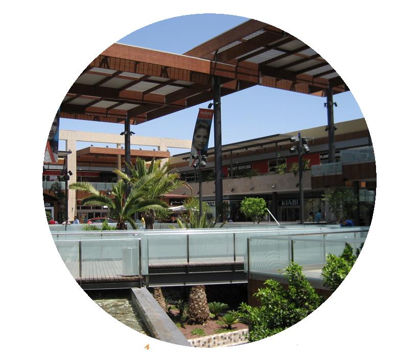 Imagen exterior de un centro comercial
