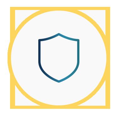 Icono de un escudo que representa la prevención