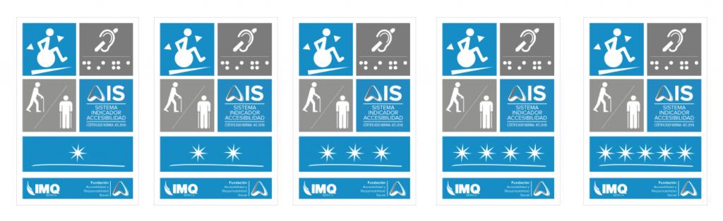 Aparecen las 5 placas de Certificación AIS desde 1 a 5 estrellas