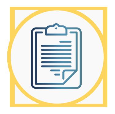 Aparece un portapaperes representado un listado de requisitos
