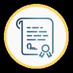 Icono que representa un certificado