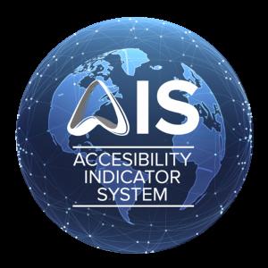 Bola del mundo con el logo de AIS dentro
