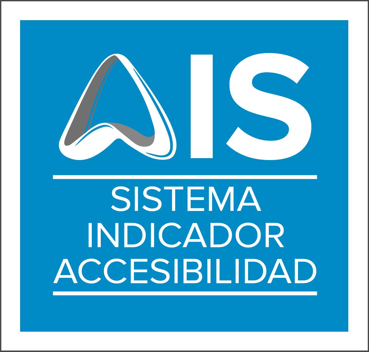Aparece un cuadrado azul con el logotipo de AIS