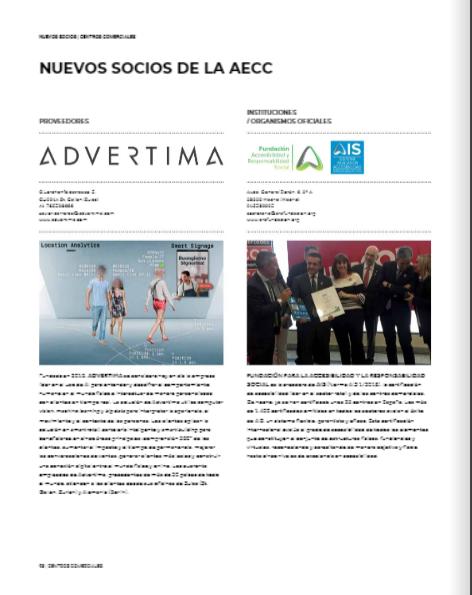 Página de la Revista de Centros Comerciales