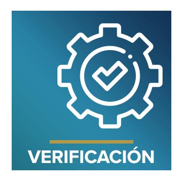 Icono que representa la verificación con el texto Verificación