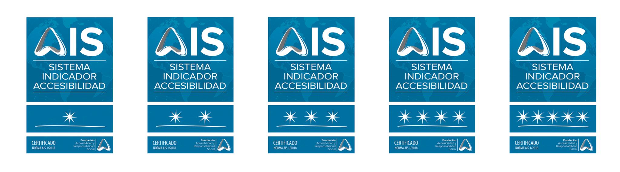 Aparecen las placas AIS ordenadas de 1 estrella a 5
