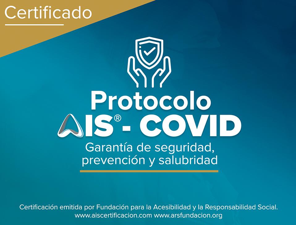 Imagen del Certificado del Protocolo AIS Covid