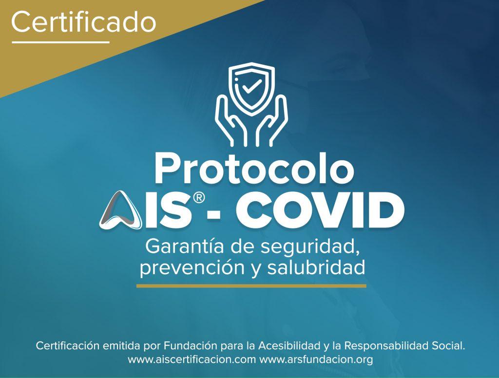 Distintivo Certificado AIS-COVID otorgado a La Fira Centre Comercial