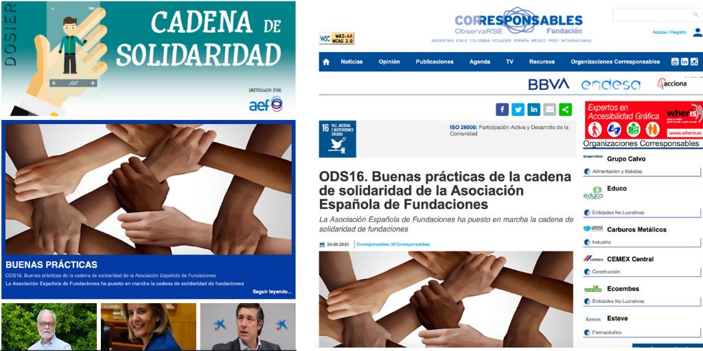Corrresponsables publica un dossier sobre la Cadena de Solidaridad