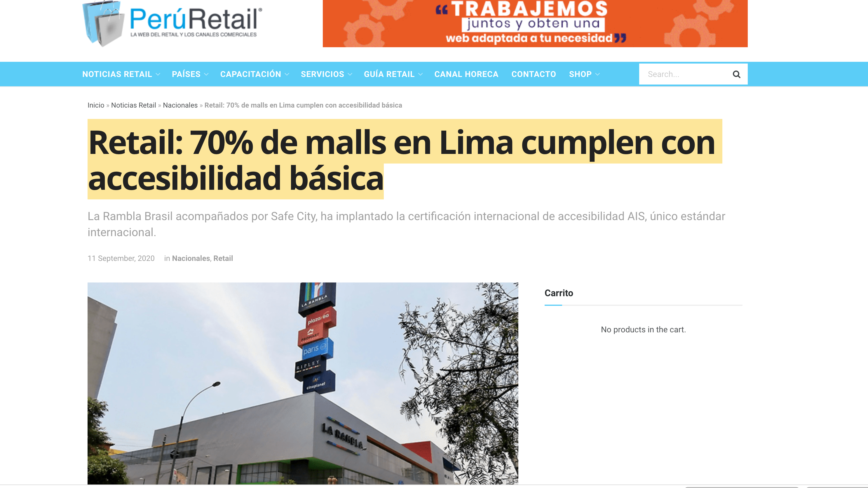 Noticia de Perú Retail