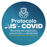 Logo circular del protocolo de certificación AIS COVID