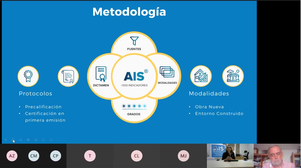 Captura de un momento de la formación del certificado de accesibilidad AIS