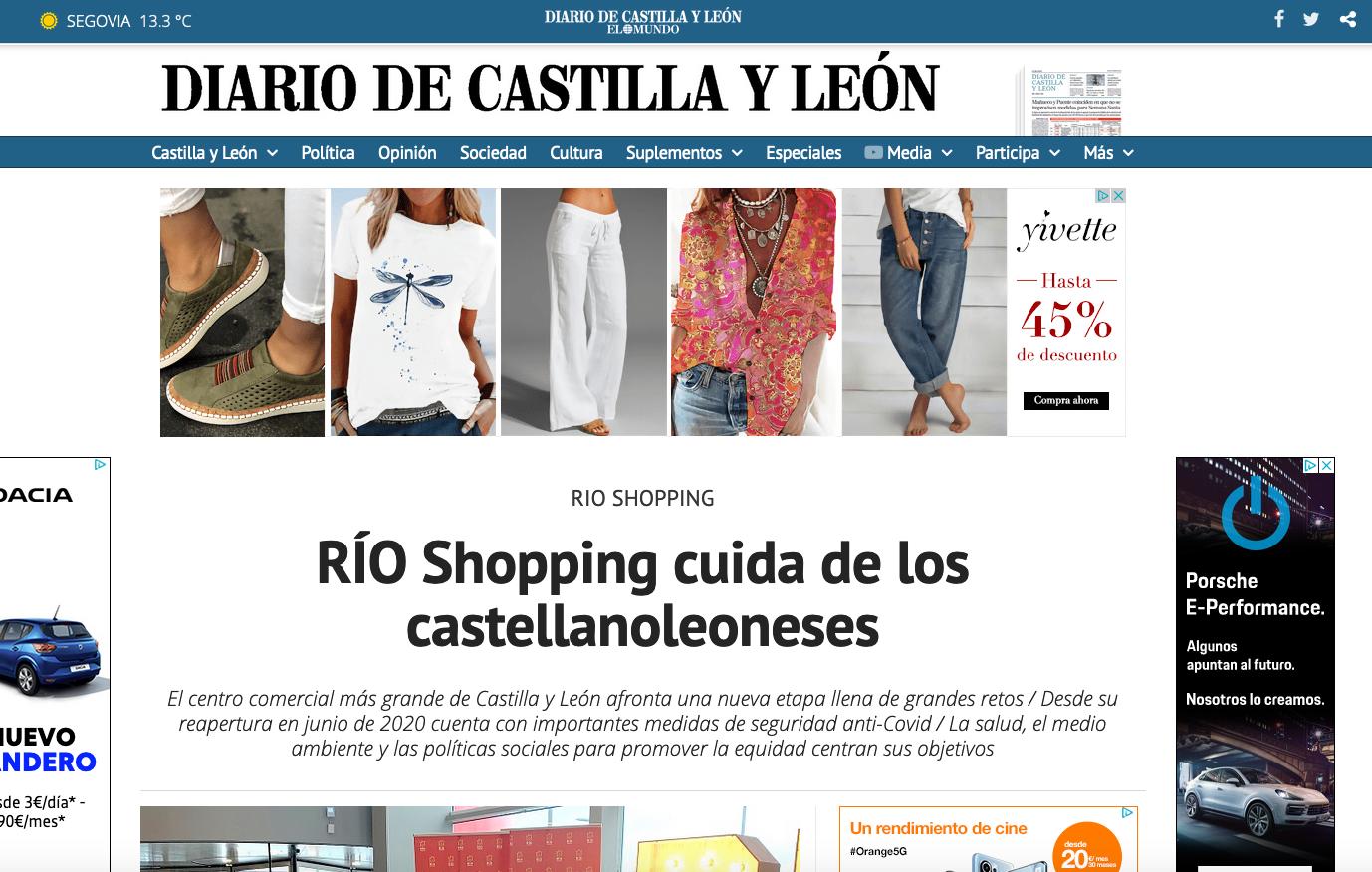 Captura del Diario de Castilla y León, de El Mundo