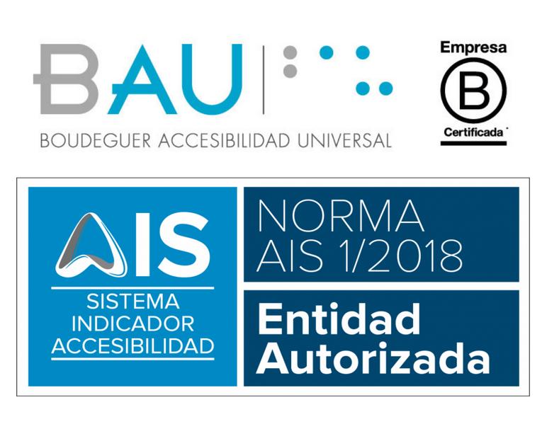 Logo de Bau sobre el logo de Entidad ASutorizada
